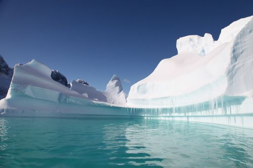 south pole iceberg ice