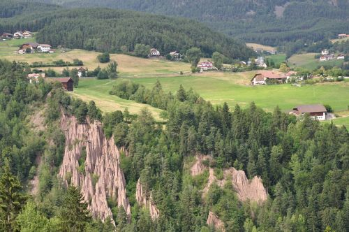 south tyrol earth pyramids landscape