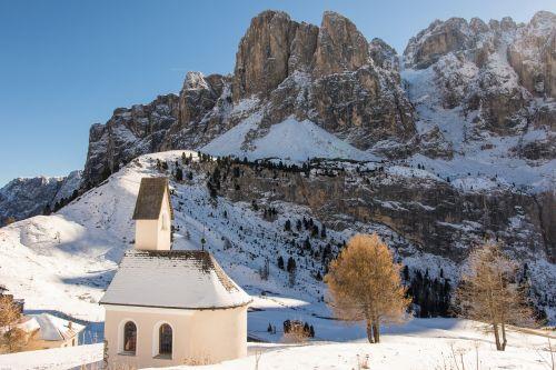 south tyrol dolomites chapel