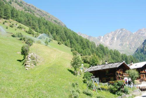 south tyrol hut alm