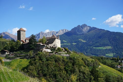 south tyrol  castle tyrol  mountains