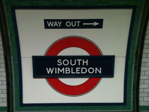 South Wimbledon Underground Sign