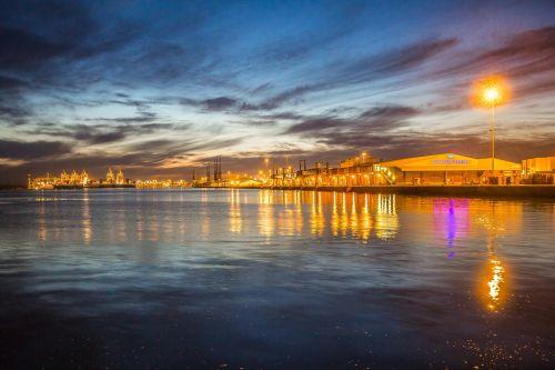 southampton port twilight