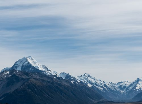 southern alps mount cook new zealand