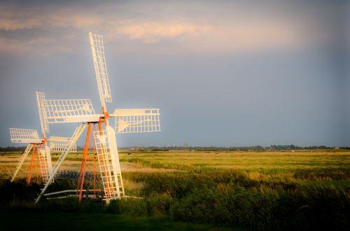 southern jutland dyke pumps wind turbine