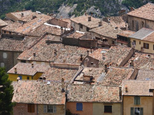 southern roofs clay pans maritime alps