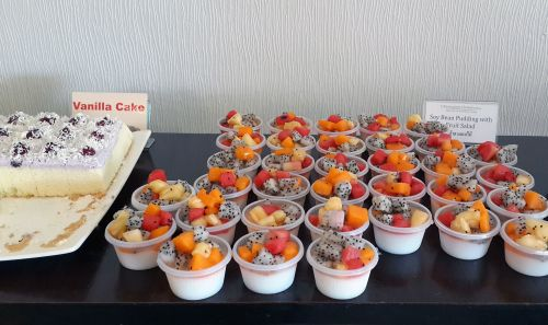 Soy Bean Pudding And Fruit Salad