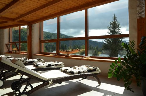 spa relax window view