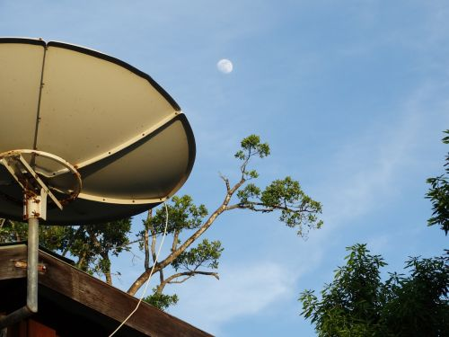 space satellite dish contact