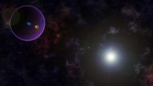 space planets stars