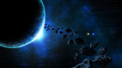 space asteroids planets