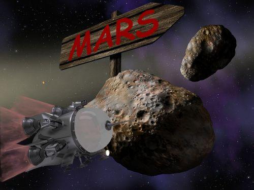 space spaceship mars
