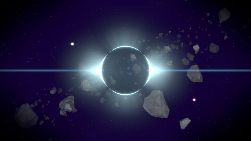 space planet asteroids