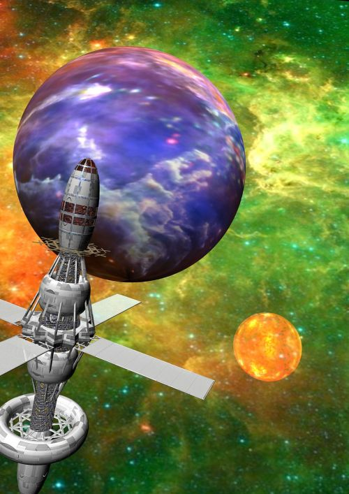 space satellite planet