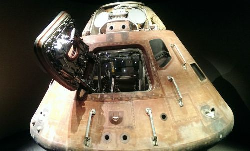 space capsule landing module kennedy space center