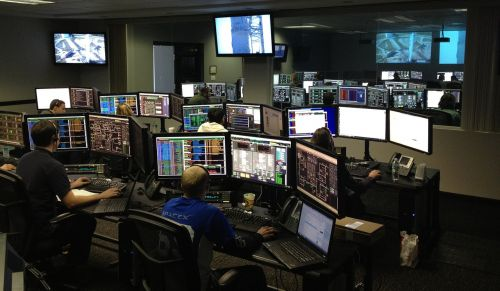 space center spacex control center