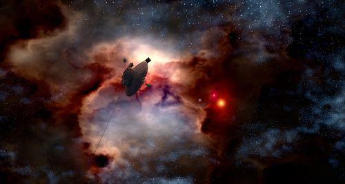 space probe pioneer 10 gas fog