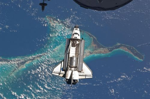 space shuttle atlantis docking space station