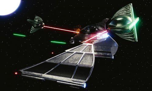 spaceship space battle battle