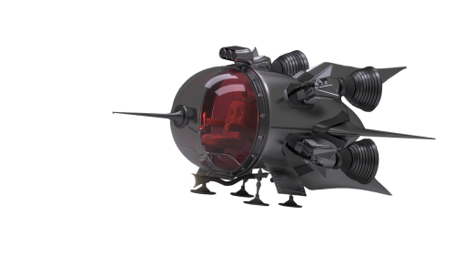 spaceship isolated science fiction