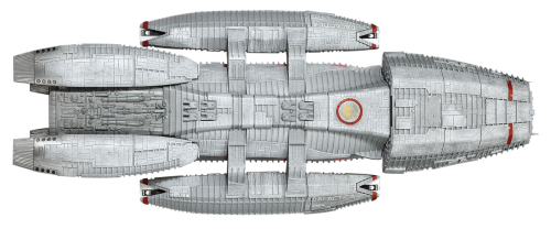 spaceship model isolated