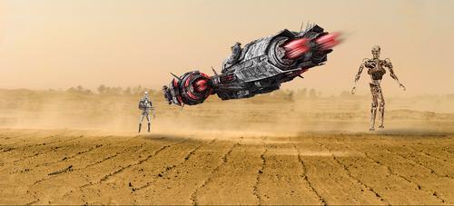 spaceship  space ship  robot