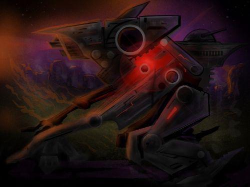 spaceship art sketch