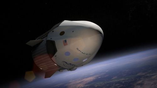 spacex spaceship satellite