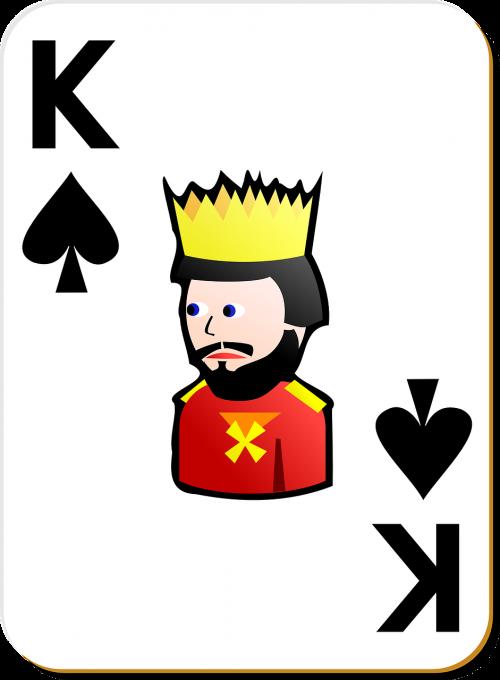 spade king card