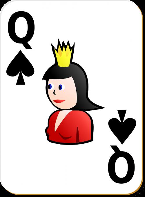 spade queen card