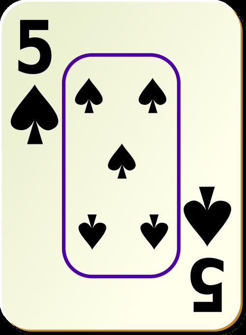 spade 5 card
