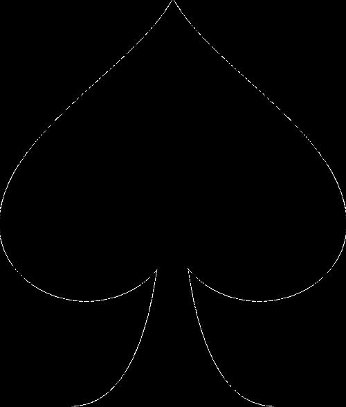 spade card shape