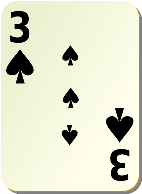 spades three 3