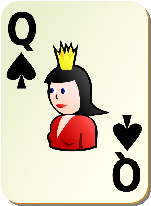 spades playing cards queen