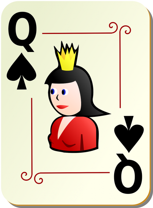 spades queen poker