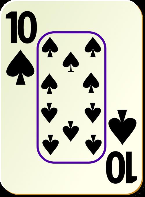 spades ten 10