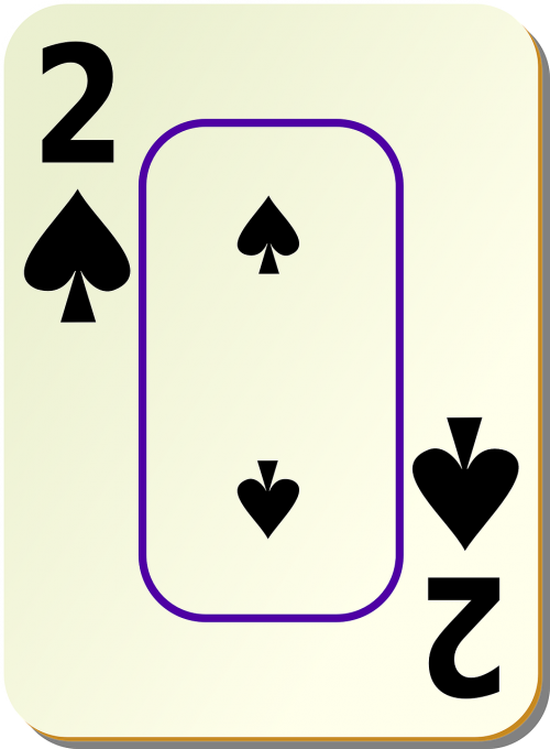 spades two 2