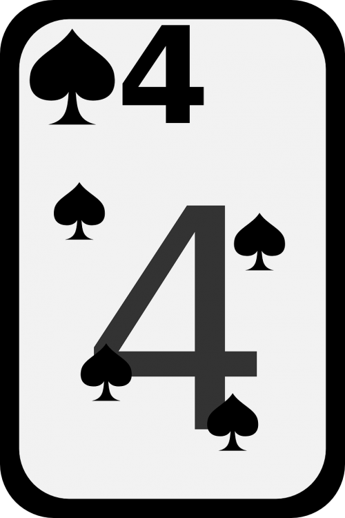 spades card four