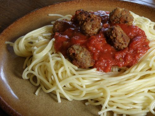 spaghetti meatballs pasta