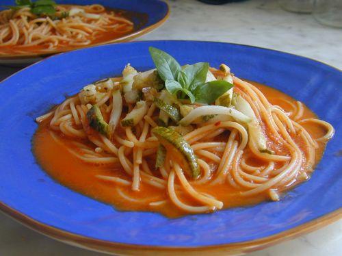 Sea Spaghetti With Zucchini