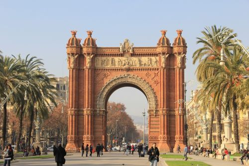 spain barcelona triumphal arch