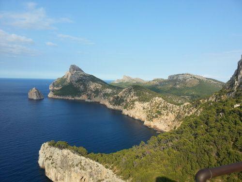 spain mallorca coastal landscape