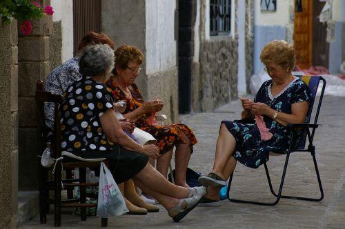 spain needlework women