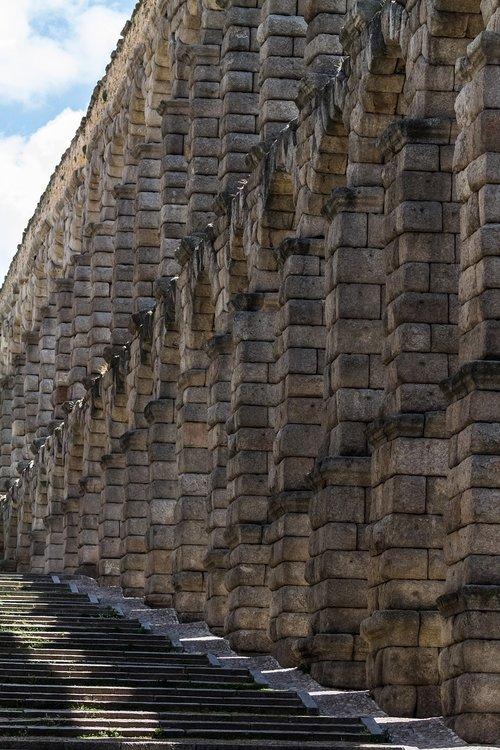 spain  segovia  roman agueduct
