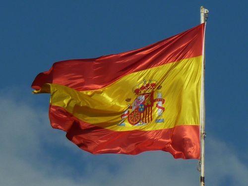 spain flag sky