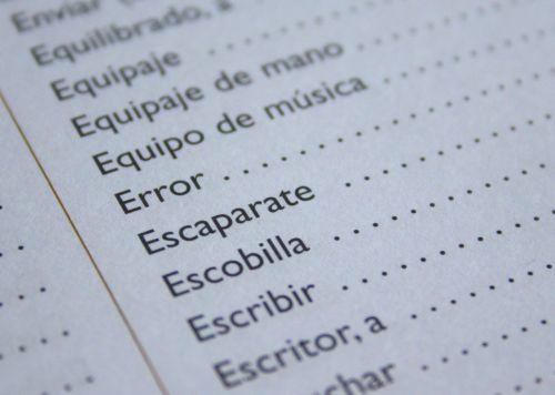 spanish language error