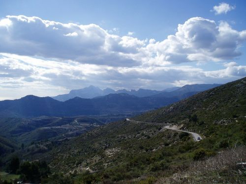 spanish mountain road mountain road view