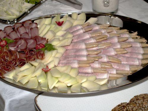 Asparagus Ham Plate