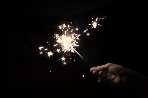sparkler star fire sprühkerze