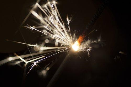 sparkler  new year  sparks
